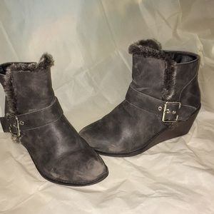 Rampage Faded Boots Fur Sz 8